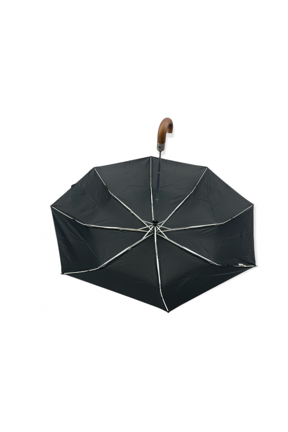 Parapluie pliable duomatic avec poignée en bois